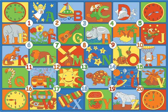 alphabet rug learning carpets time to learn