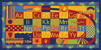 Alphabet Rug, Alphabet Mat, Alphabet Carpet: Alpha Walkabout