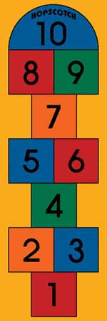 Hopscotch Rug - Play Mat For Kids