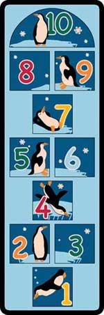 Hopscotch Mat: Penguins