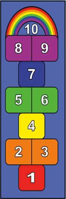 Hopscotch Mat: Rainbow
