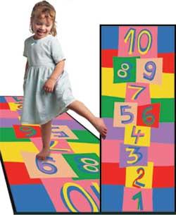 Hopscotch Rug - Kids Play Carpets