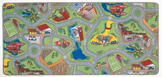 Road Play Rug - Car Play Carpet: My Home Town