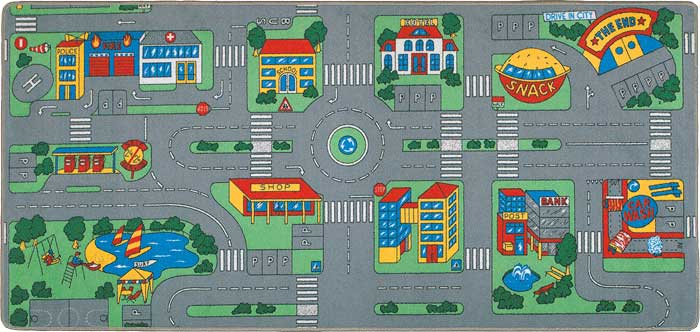 city streets rug carpet playmat