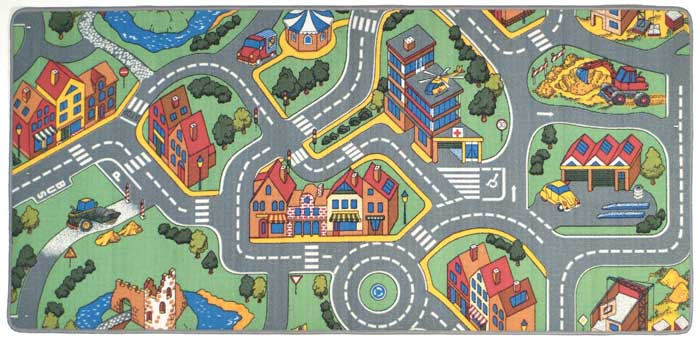 Street Play Mat For Kids My Neighborhood