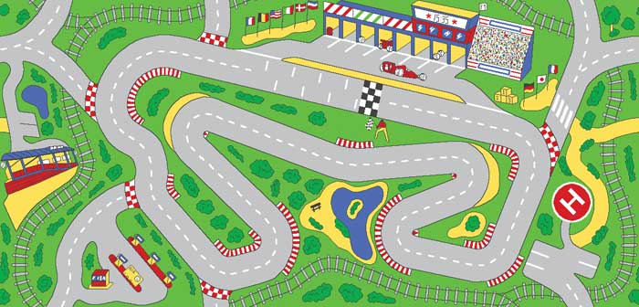racetrack playmat for kids car play carpet