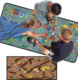 Play Rug For Cars: Street Play Rug U0026 Road Play Rug