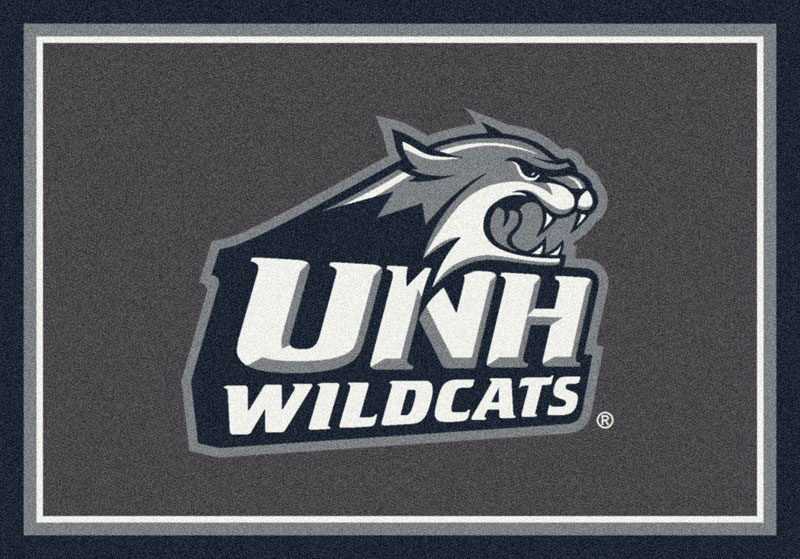 Area Rug With New Hampshire Wildcats Sports Team Logo
