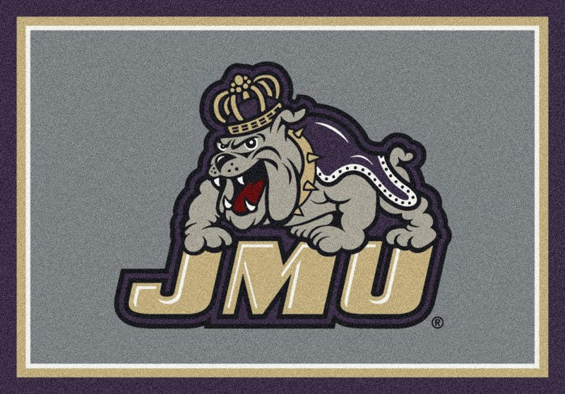 Area Rug With James Madison Dukes Sports Team Logo