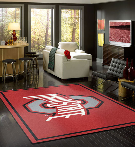 College Sports Rugs And College Mats