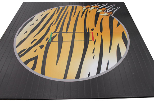 Wrestling Mat With Custom Printed Bengal Pattern And Tiger