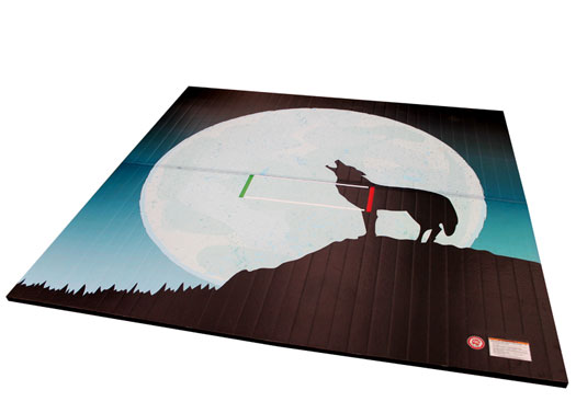 Custom Printed LiteWeight Wrestling Mats Coyote Full Moon