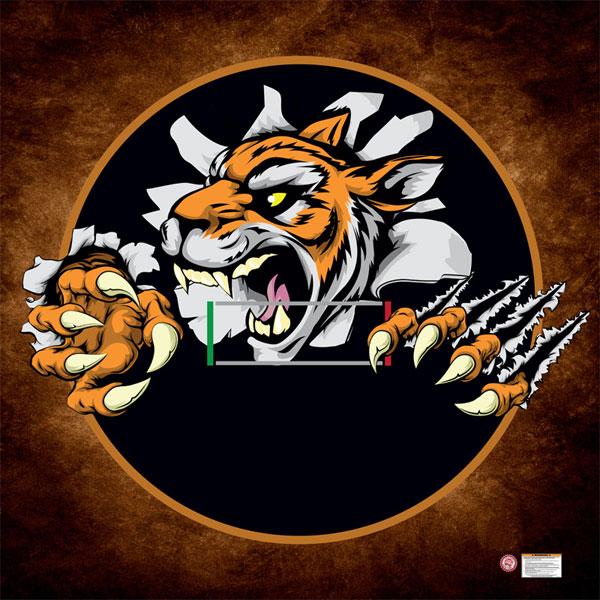 Wrestling Mat With Custom Printed Fierce Tiger