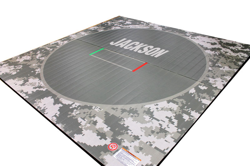 Camouflage Camo Wrestling Mat With Custom Printed Text