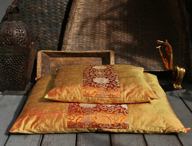 Beautiful Silk Zafu Amp Zabuton Meditation Cushions